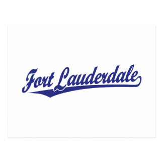 Fort Lauderdale in Blue Postcard