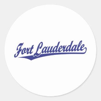 Fort Lauderdale in Blue Round Sticker