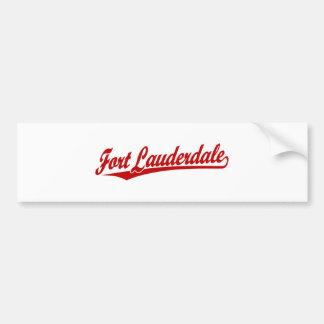 Fort Lauderdale in Red Bumper Sticker