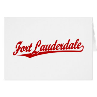 Fort Lauderdale in Red Greeting Card