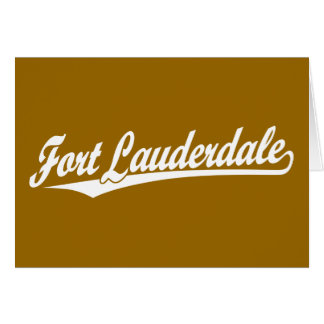 Fort Lauderdale in White Greeting Card