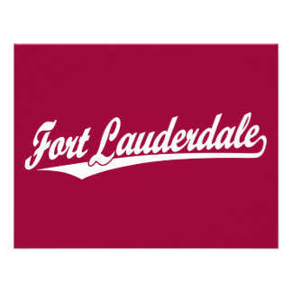 Fort Lauderdale in White Personalized Invites