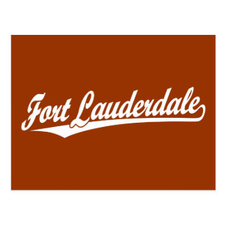 Fort Lauderdale in White Postcard