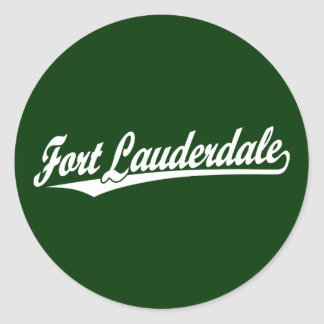 Fort Lauderdale in White Round Stickers