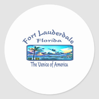 Fort Lauderdale Round Sticker