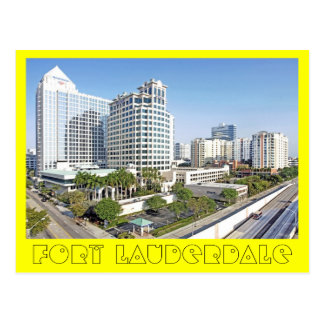 Fort Lauderdale, The City of Bright Tomorrows Postcard