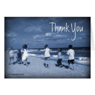 Fort Lauderdale Vintage Thank You Card