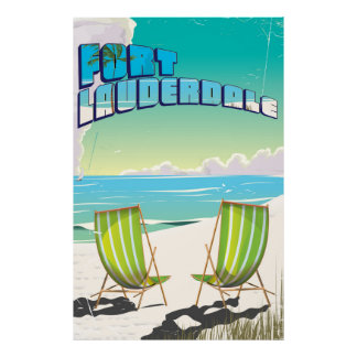 Fort Lauderdale vintage travel poster