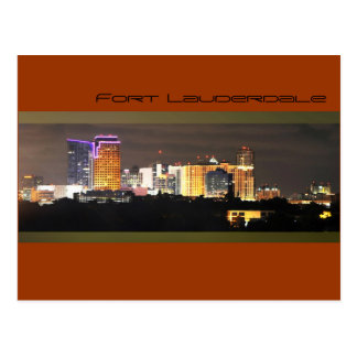 Fort Lauderdale's skyline at night Postcards