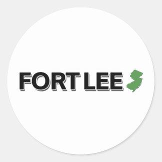 Fort Lee, New Jersey Round Sticker