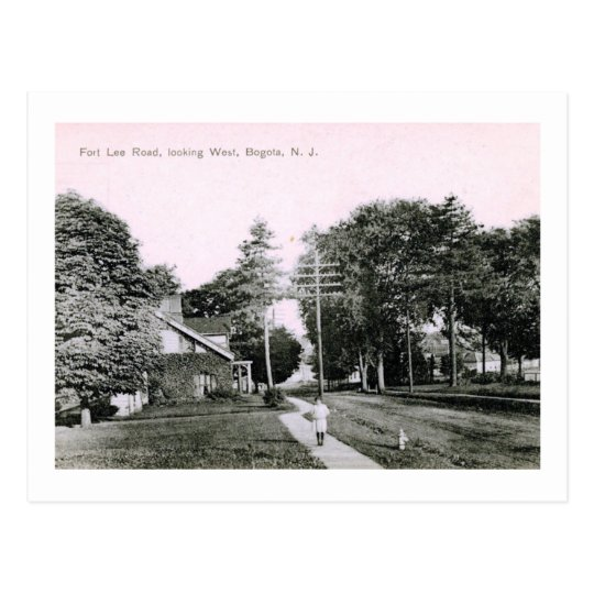 Fort Lee Rd., Bogota, NJ Vintage Postcard