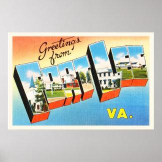 Fort Lee Virginia VA Old Vintage Travel Postcard- Poster