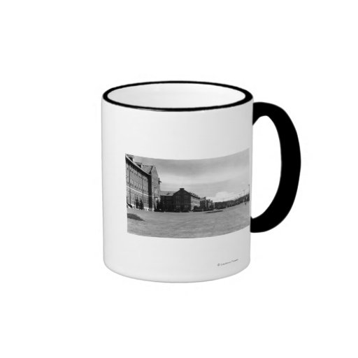 Fort Lewis, WA View of Barracks and Mt. Rainier Coffee Mug