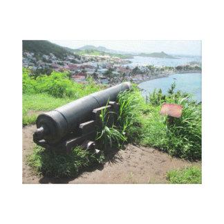 Fort Louis Rampart Cannon Canvas Prints