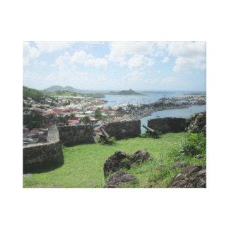 "Fort Louis Rampart Walls ""St. Maarten"" Canvas Print"