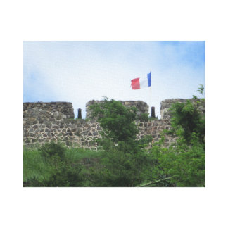 """Fort Louis Ramparts """"St. Maarten"""" Stretched Canvas Prints"""