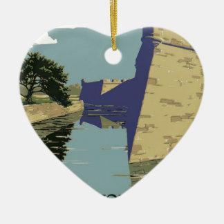 Fort Marion National Monument, St. Augustine Ceramic Heart Decoration