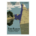 Fort Marion National Monument St Augustine Florida Poster