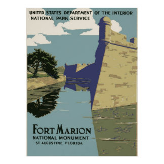 Fort Marion National Monument, St. Augustine Poster