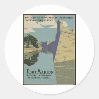 Fort Marion Round Sticker
