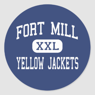 Fort Mill - Yellow Jackets - High - Fort Mill Round Sticker