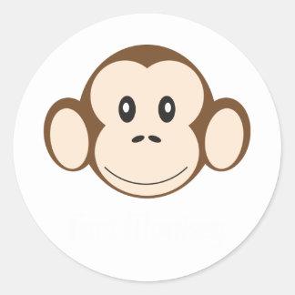 Fort Monkey Round Sticker