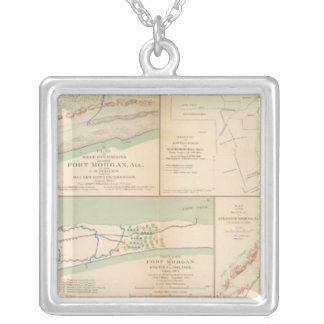 Fort Morgan, Ala Silver Plated Necklace