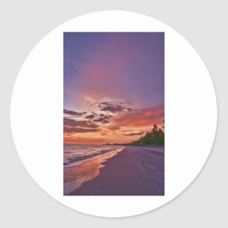 Fort Myers Beach Sunset Stickers
