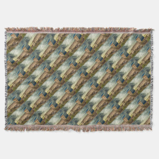 Fort on the hill throw blanket