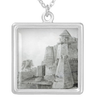 Fort on the Yamuna River, India Silver Plated Necklace