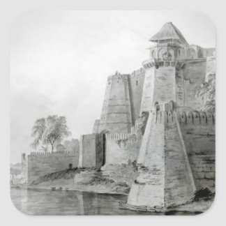 Fort on the Yamuna River India Square Sticker