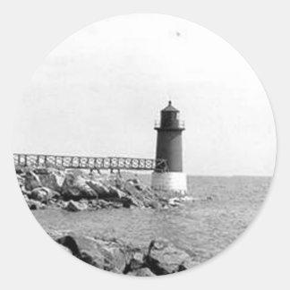 Fort Pickering Lighthouse Round Sticker
