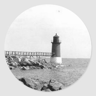Fort Pickering Lighthouse Round Sticker