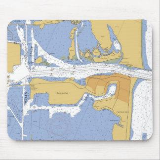 Fort Pierce FL Nautical  Harbor Chart mousepad