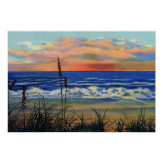Fort Pierce Florida Beach at Sunrise Poster