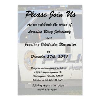 fort pierce police department pickup truck closeup card
