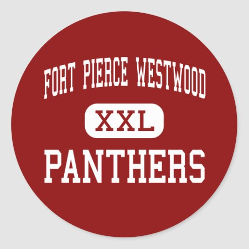 Fort Pierce Westwood - Panthers - Fort Pierce Round Stickers