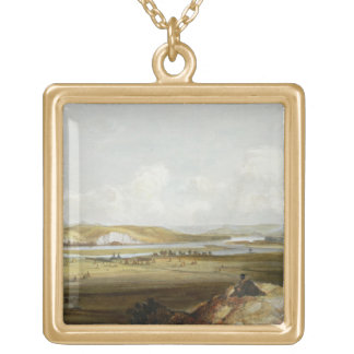 Fort Pierre on the Missouri, plate 10 from Volume Gold Plated Necklace