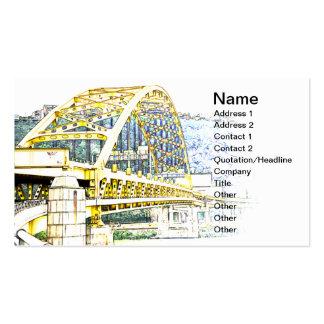 Fort Pitt Bridge in Pittsburgh, Pennsylvania Business Card Template