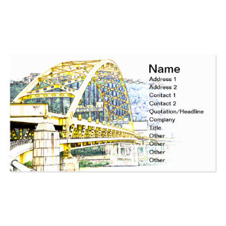 Fort Pitt Bridge in Pittsburgh, Pennsylvania Pack Of Standard Business Cards