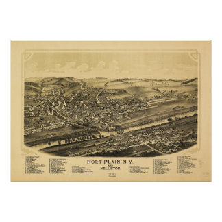 Fort Plain New York and Nelliston (1891) Poster