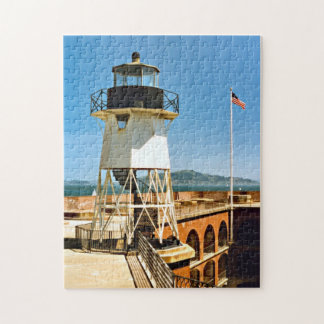 Fort Point Lighthouse, California Jigsaw Puzzle