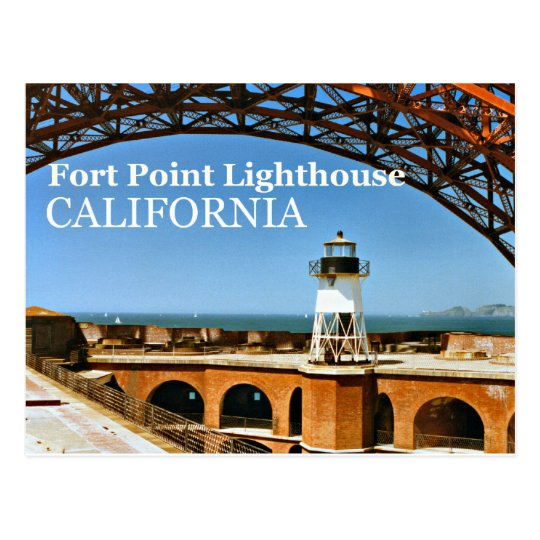 Fort Point Lighthouse, California Postcard