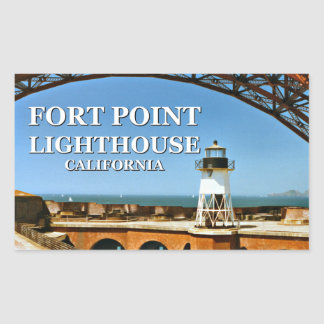 Fort Point Lighthouse, California Stickers