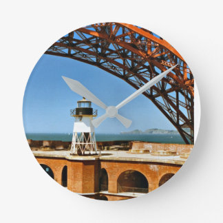 Fort Point Lighthouse, California Wall Clock
