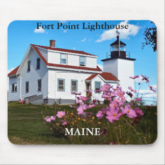 Fort Point Lighthouse Maine Mousepad
