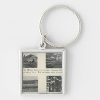 Fort Ross, California Silver-Colored Square Key Ring