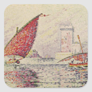 Fort Saint-Jean, Marseilles, 1907 Square Sticker