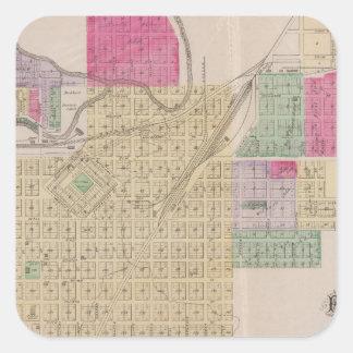 Fort Scott, Bourbon County, Kansas Square Sticker