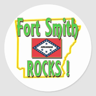 Fort Smith Rocks ! (green) Round Sticker